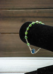Italian Crystal One Decade Rosary (Our Lady of Grace) (Green)
