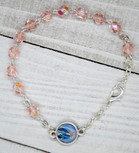 Italian Crystal One Decade Rosary (Our Lady of Grace) (Pink)