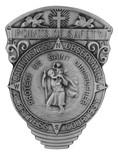 Traditional Catholic Visor Clip (Saint Christopher with Compass)