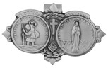 Traditional Catholic Visor Clip (Saint Christopher / Our Lady of the Highway)