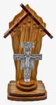 "4"" Olive Wood Catholic Devotional Shrine (San Damiano Cross)"