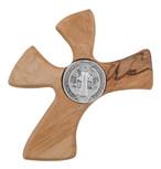 Saint Benedict Olive Wood Clinging Cross