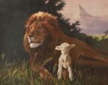 """11"""" The Lion and the Lamb Artwork Print"""