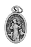 """1"""" Traditional Saint Medals (oval st francis pet medal)"""
