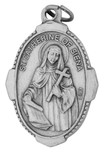 """1"""" Traditional Saint Medals (st catherine of siena)"""