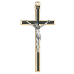 "5"" CRUCIFIX WITH BLACK EPOXY"