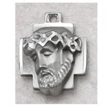 """PEWTER ECCE HOMO 24""""CH&CARDED"""
