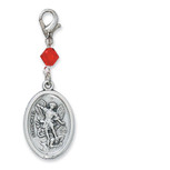 ST MICHAEL/GA RED CLIP CHARM
