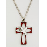 RHODIUM ENAMEL HOLY SPIRIT