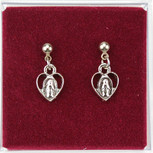 RF MIRACULOUS HEART EARRINGS
