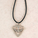 PEWTER HOLY SPIRIT MEDAL WITH