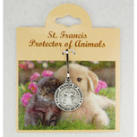 "Saint Francis of Assisi Pewter Pet Medal ""Protect My Pet"""