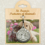 PEWTER ST FRANCIS PROTECT MY