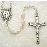 SS 3MM PINK PEARL ROSARY