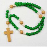 GREEN WOODEN KIDDEE ROSARY