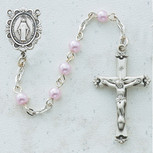 SS 5MM PINK PEARL ROSARY