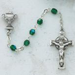 3MM GREEN IRISH COMM ROSARY