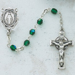 3MM GREEN IRISH ROSARY