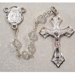 6MM AB TIN CUT CRYSTAL ROSARY