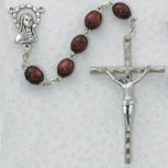 6X8MM BROWN WOOD ROSARY