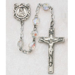 6MM AB CRYSTAL TIN CUT ROSARY