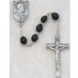 4X6MM BLACK WOOD ROSARY
