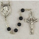 5MM BLACK IRISH ROSARY