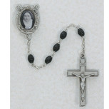 4X6MM BLACK ST THERESE ROSARY