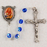 6MM BLUE ST. DYMPHNA ROSARY