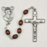 4X6MM BROWN WOOD ROSARY