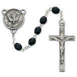 4 X 6 BLACK WOOD H.S. ROSARY