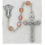 6MM AB ROSE/OCTOBER ROSARY