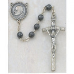6MM HEMATITE PAPAL ROSARY