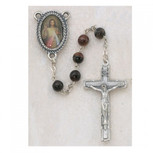 6MM RED DIVINE MERCY ROSARY