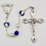 Beautiful miraculous enameled heat rosary.