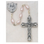 6X8MM PINK GLASS ROSARY