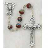 6MM RED CLOISSONNE ROSARY