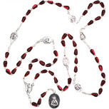 Seven Sorrows Red Teardrop Rosary