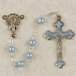 5MM BLUE ROSARY
