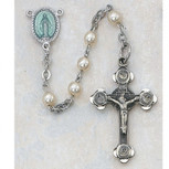SS IMM PEARL ROSARY BOXED