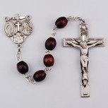 4X6MM SS BROWN ROSARY