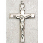 """Sterling Silver Cross on a 24"""" Continuous Chain"""