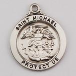 "SS ST MICHAEL 20"" CHAIN & BOX"