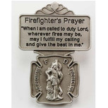 FIREFIGHTER PRAYER VISOR CLIP