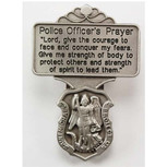 St. Michael Patron of Police Officers Protection Visor Clip