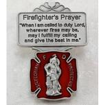 FIREFIGHTER RED ENAMEL VISOR