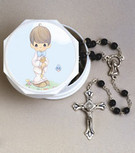 Precious Moments Boy Case with Rosary