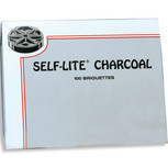 Self-Lite Charcoal, Box of 100 Briquettes