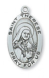 PEWTER ST THERESE L.F. MEDAL
