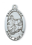 PEWTER ST LUKE MEDAL WITH